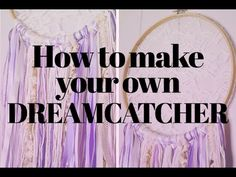 DIY Boho Wall Decor for Your Home: Dream Catcher Step-by-Step Tutorial (video) – The Domestic Diva Diy Dream Catcher For Kids, Dream Catcher Boho, Dream Catchers, Diy Bag Painting, Diy Bag Strap, Diy Bag Designs, Diy Dream Catcher Tutorial, Diy Bathroom, Diy Tumblr