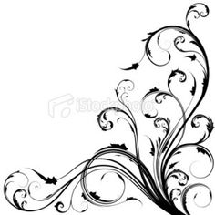 Swirl Corner Borders Clip Art | ... corner swirls information corner swirl clip art swirl corner borders
