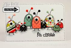 Pieced aliens ⊱✿-✿⊰ Follow the Cards board. Visit GrannyEnchanted.Com for thousands of digital scrapbook freebies. ⊱✿-✿⊰