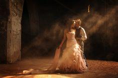 romantic wedding portrait of couple in barn with photo by Daniel Aguilar | via junebugweddings.com