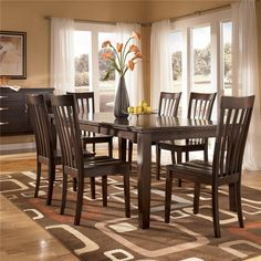 7 Piece Rectangular Table & Side Chair Dining Set St. Cloud, Willmar, Alexandria, Minnesota Furniture Store - Hennen Furniture