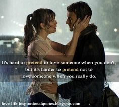 Harder to Pretend Not to Love Someone
