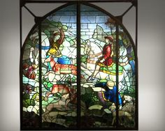 """""""The hunt"""", large historic stained glass by Mauméjean Brothers - Reference 2516 Antique Windows, Modern Windows, Garden Windows, Architectural Antiques, French Decor, South Of France, Stained Glass Windows, French Antiques, Medieval"""