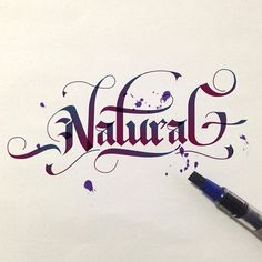 ritchieruiz Natural experimental calligraphy. Pilot parallel pen 6.0mm ️ 231/365 #lettering #calligraphy #inspire