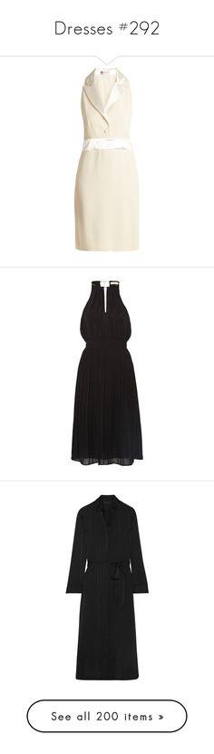 """Dresses #292"" by bliznec ❤ liked on Polyvore featuring lanvin, dresses, black, embelished dress, calf length dresses, chiffon midi dress, pleated dresses, michael michael kors, charmeuse dress and shirt dresses"
