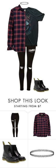 """Untitled #58"" by ejeffrey3 on Polyvore featuring Topshop, Current/Elliott and Dr. Martens"
