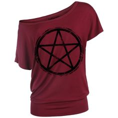 cfe117ab22fe9f Distressed Pentagram - T-Shirt Manches courtes par Gothicana by EMP