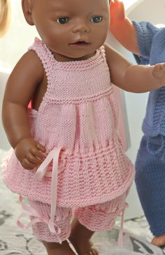 Baby Dolls Clothes Knitting Patterns doll pattern not free Baby Knitting Patterns, Knitted Doll Patterns, Knitted Dolls, Baby Patterns, Knitted Baby, Free Knitting, Knitting Dolls Clothes, Crochet Doll Clothes, Doll Clothes Patterns