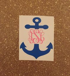 A personal favorite from my Etsy shop https://www.etsy.com/listing/269827981/monogrammed-anchor-decal