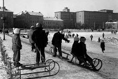 Bratislava, Prague, Old Photos, Nostalgia, Bicycle, Street View, Black And White, Retro, Sneh