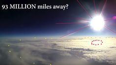 It's in our atmosphere... Large sun spots.... flat earth fun