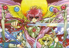 Feh Yes Vintage Manga: Photo History Of Manga, Group Cosplay, Magic Knight Rayearth, Magical Girl, Graphic Design Illustration, Poster Wall, New Art, Manga Anime, Cool Art