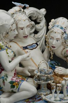 """""""Not Your Grandmothers Figurines"""" Ceramics by ChrisAntemann"""