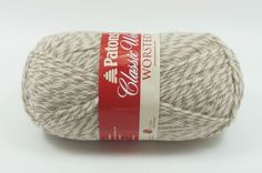 Patons Classic Wool Yarn 100g Feltable Worsted Color Natural Marl  #Patons #knitting #crochet #felting #wool #yarn
