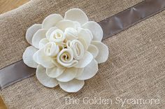 Never enough flower pillows. I still haven't MADE any, but I enjoy collecting the ideas! The Golden Sycamore: Embellished Burlap Pillow Tutorial