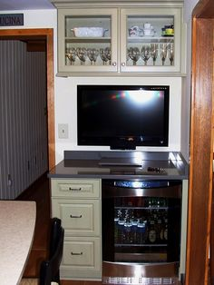 Turning desk area into bar wine bar areas pinterest for Convert kitchen desk to pantry