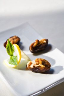 Walnuts and dates; with a spectacular blend of taste and texture, this combination is a favorite.
