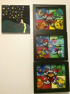 Post with 0 votes and 98 views. Gen sprite frames I made. Hope you all enjoy! Video Game Crafts, Video Game Art, Gen 1, Game Ideas, Perler Beads, Diorama, Pokemon, Nerd, Frames