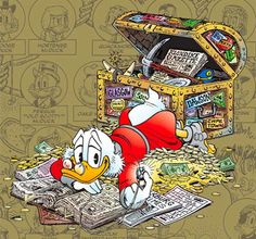 Ilustração: The Life and Times of Scrooge McDuck por Don Rosa Walt Disney, Disney Duck, Disney Magic, Disney Mickey, Disney Art, Disney Pixar, Mickey Mouse E Amigos, Mickey Mouse And Friends, Don Rosa