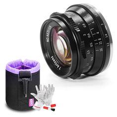 7artisans 35mm F1.2 APS-C Large Aperture Manual Focus Lens for Canon EOS-M Mount M1 M2 M3 M5 M6 M10 M100