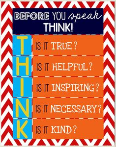 The Kids Room Before You Speak Think Wall Plaque