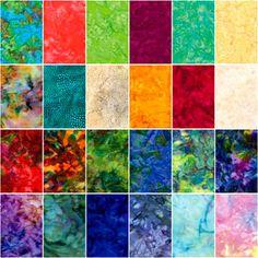 Light+Bright Batik Quilt Fabric Fat Quarter Medley Jewel Tone Fabric | auntiechrisquiltfabric - Craft Supplies on ArtFir