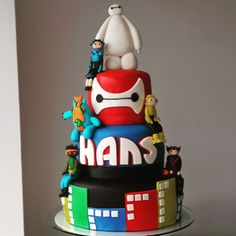 Big Heroes Cake by 6th Birthday Parties, Birthday Party Decorations, Boy Birthday, Moana Birthday, Birthday Ideas, Baymax, Cupcakes, Cupcake Cakes, Big Hero 6 Party Ideas