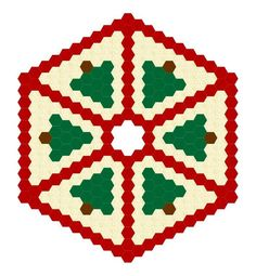 Hexadoodle Christmas Tree Skirt via Craftsy Diy Arts And Crafts, Paper Crafts, Felt Crafts, Wood Crafts, Diy Crafts, Hexagon Patchwork, Hexagon Quilting, Christmas Tree Skirts Patterns, Christmas Crafts