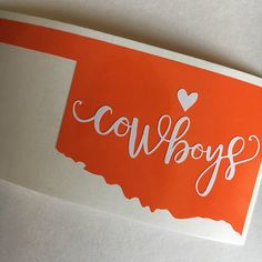 Oklahoma State Cowboys sticker Oklahoma State Universith