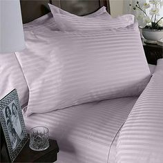 Egyptian Bedding 300 Thread-Count, Full Pillow Cases, Lavender Stripe, Set of 2 by Egyptian Bedding. $17.99. Made of 100-percent Egyptian Cotton material for superior softness and durability. Each 20 x 30-inch pillowcase is 300 Thread Count, single ply. 100% Luxury 300TC Egyptian Cotton Pillow Case Set. Set contains 2 Egyptian Cotton Pillow Case in beautiful Zipper Bag. Pillowcases grow softer with every wash without requiring fabric softener. This Luxury Egyptia...