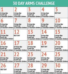 30-Day Chest Challenge for Men | 30-Day Arm Challenge