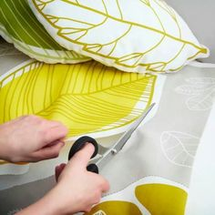 DIY idea for making a leaf shaped pillow/cushion.  Idea from Ikea new product page (pdf format; pictures on page 2)