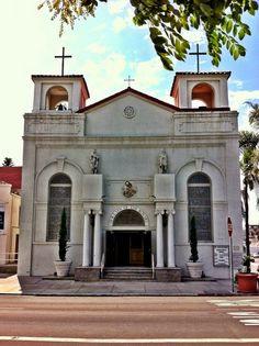Our Lady of the Rosary Church, built in 1925 in Little Italy, San Diego, CA.
