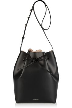 NWT Mansur Gavriel Black Ballerina Nude Large Bucket Bag - Handbags & Purses