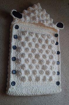 Baby Knitting Patterns Sleep Sack Ravelry: Sheep Baby Sleep Sack pattern by Alicia Cromwell Crochet Blanket Patterns, Baby Knitting Patterns, Baby Blanket Crochet, Baby Patterns, Crochet Baby Cocoon, Crochet Baby Clothes, Quick Knitting Projects, Crochet Projects, Crochet Ideas