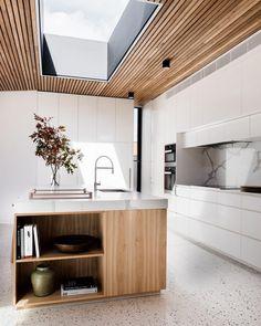 The terrazzo in the kitchen: granito trend - Home Decor Modern Kitchen Design, Interior Design Kitchen, Modern Design, Modern Kitchens, Outdoor Kitchens, Luxury Kitchens, Modern Homes, Kitchen Designs, Contemporary Design