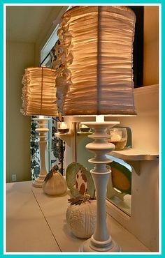 DIY:  tied lampshades