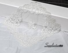 1 Pc Elegant Wedding Decoration Placemat Ivory by Suppliestar #weddings #bridal #placemat #home #lace #decor #tableware #fabric