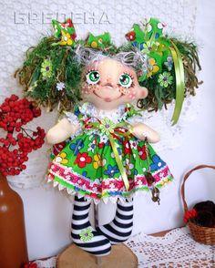 Купить Текстильная кукла Елечка Фея Счастливых Монеток . - сиреневый, интерьерная кукла, текстильная кукла