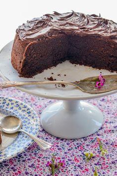 Homemade Classic Dark Chocolate Cake