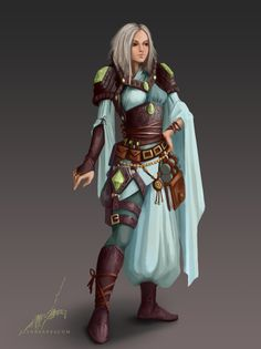 Female wizard, mage, DnD, D&D, RPG, fantasy world, character concept - ArtStation - Sorceress, Elena Barbu