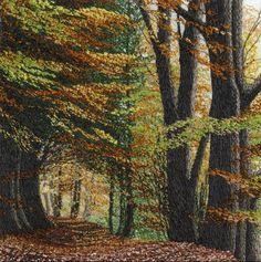 Autumn Walk 5 x 5 in frame size 10x10in £ 450 sold