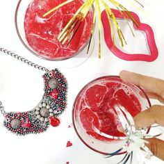 Our Valentine's Day Happy Hour! Cheers to love and friendship #elashappyhour #raspberry #minelaruby #xoxo #allred
