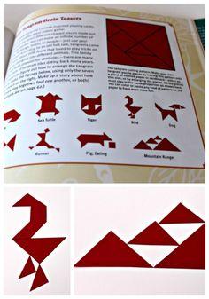 Free printable tangrams for kids - a fun way to work on mathematical thinking!