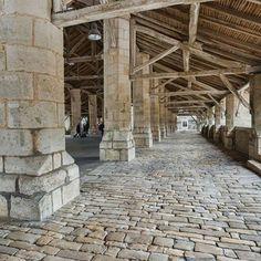 Couhé Suite les halles 86  Photo : Emmanuel Dissais Couhé Suite les halles 86  Photo : Emmanuel Dissais - A 15th century market.  Records mentioning the covered markets date back to 1580. The edifice has a very impressive structure built on 56 octogonal pillars (16th). #timberframe http://www.tourisme-vienne.com/en/activite/97/les-halles-de-couhe?utm_content=buffer80be5&utm_medium=social&utm_source=pinterest.com&utm_campaign=buffer