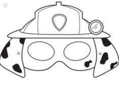Paw Patrol Masks, Paw Patrol Party, Colouring Pages, Coloring Sheets, Animal Mask Templates, Paw Patrol Coloring, Panda Party, Diy Clutch, Arts And Crafts