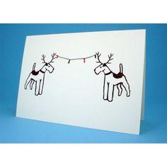 Fox terrier Christmas card