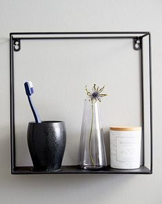 The GARD shelf is a great bathroom accessory. Perfect for a minimal bathroom setting and bathroom storage. From JYSK. Bathroom Styling, Bathroom Interior Design, Bathroom Sets, Bathroom Storage, Bathroom Accessories, Decorative Accessories, Wall Shelves, Shelf, Minimal Bathroom