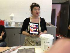 Week 6 - Itten / teacher Melanie Mathews - Acrylic Revolution II