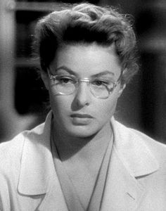 Ingrid Bergman in Spellbound (Alfred Hitchcock, 1945).  She is a serious yet love struck Freudian psychiatrist.